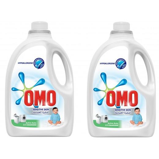 """أومو - سائل الغسيل """"""""Auto Fabric للبشرة الحساسة 2 × 2.5 لتر"""
