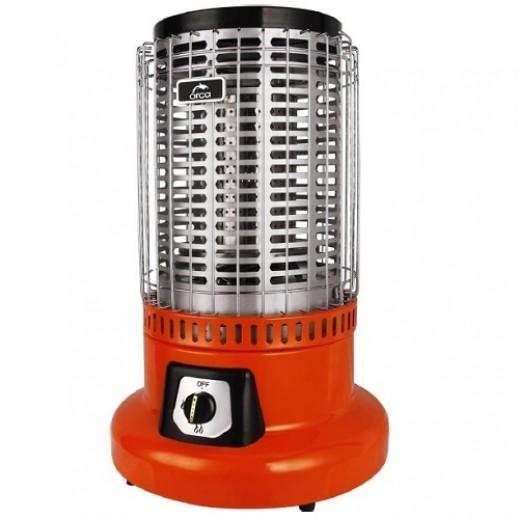 أوركا – دفاية وموقد غاز 2 في 1 بقوة 26,000 وحدة حرارية – برتقالي - يتم التوصيل بواسطة  AL-YOUSIFI  بعد 7 ايام عمل