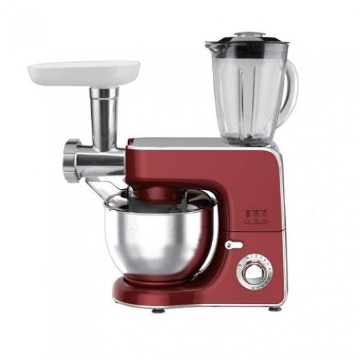 أوركا – ماكينة مطبخ 5.5 لتر 800 واط مع مفرمة لحم – أحمر - يتم التوصيل بواسطة  AL-YOUSIFI  بعد 3 ايام عمل