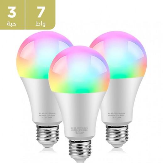 نظام إضاءة LED يعمل بالواي فاي وتحكم صوتي  (3 حبه)