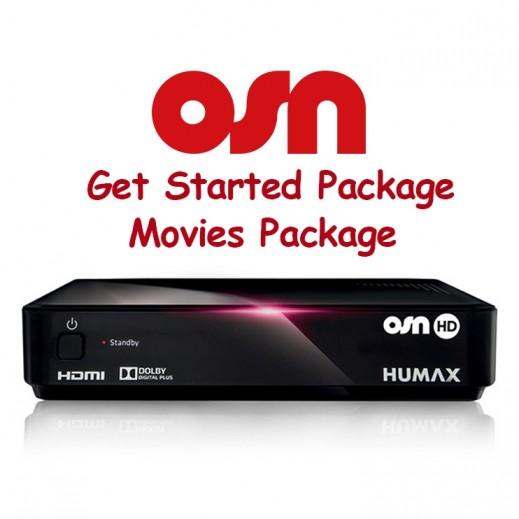اشتراك OSN Get Started + باقة قنوات الأفلام لمدة 3 أشهر و ريسيفر هيوماكس HD - يتم التوصيل بواسطة Nasser Alhusainan Company