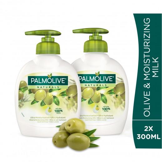 بالموليڤ – غسول اليدين بخلاصة الحليب وزيت الزيتون 2 × 300 مل (20% خصم)