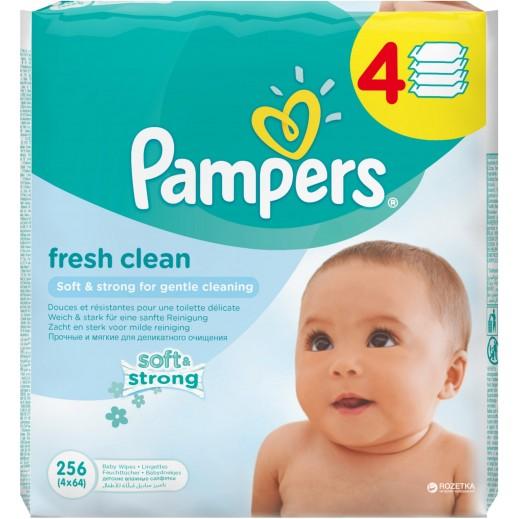 بامبرز- مناديل منعشة للأطفال 64 منديل (3+1 مجاناً)