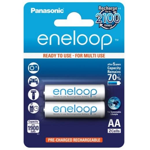 """باناسونيك – بطارية """"Eneloop"""" القابلة للشحن قياس AA (عبوة 2 حبة) - BK-3MCCE/2BT"""