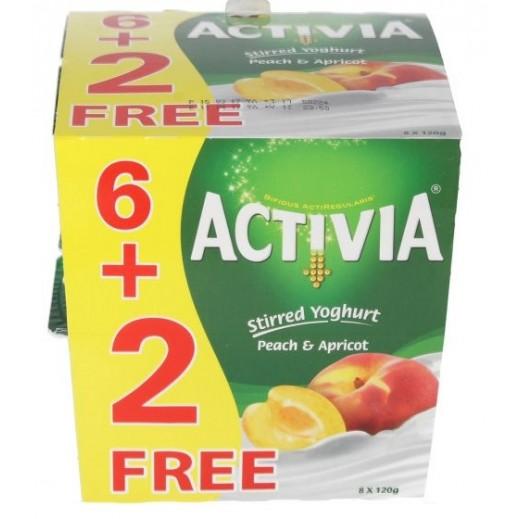 أكتيفيا – روب بالخوخ والمشمش 120 جرام (6+2 مجانا)