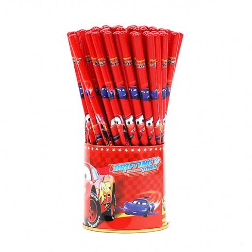 طقم أقلام رصاص بتصميم السيارات  72 حبة
