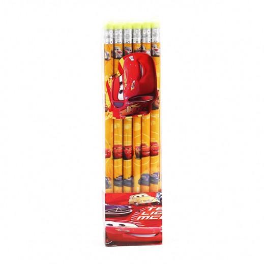 طقم أقلام رصاص بممحاة بتصميم السيارات 36 حبة