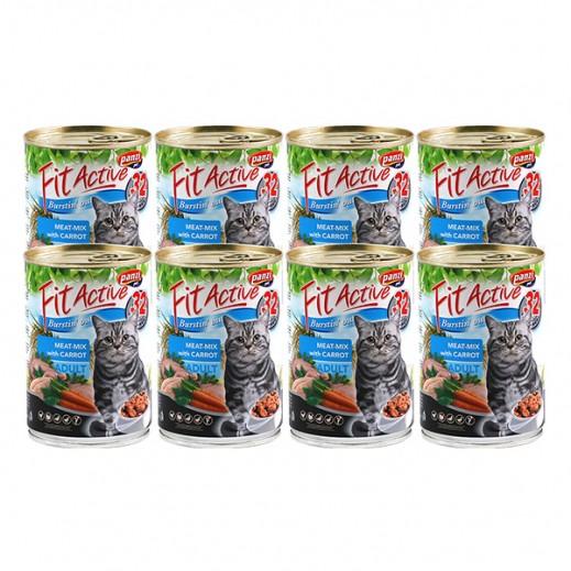 بانزي – طعام فيت أكتيف للقطط البالغة باللحم مع الجزر 415 جم (8 حبة)
