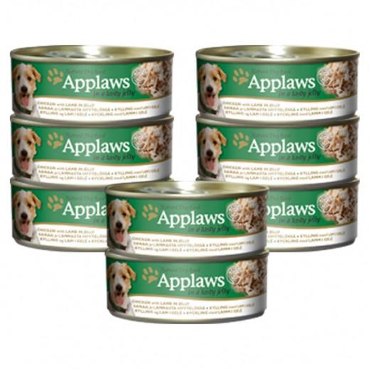 أبلوز – طعام الكلاب الطبيعي مع الدجاج والضأن في جيلي 156 جرام (8 حبة) - عرض التوفير
