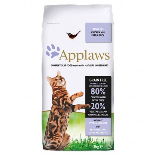 أبلوز – طعام القطط البالغة الجاف مع الدجاج ولحم البط 2 كجم