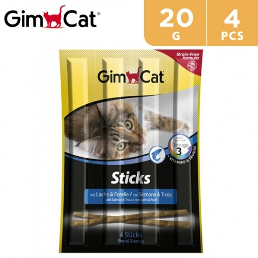 Gimcat Sticks Salmon & COD 4 Pcs 20 g