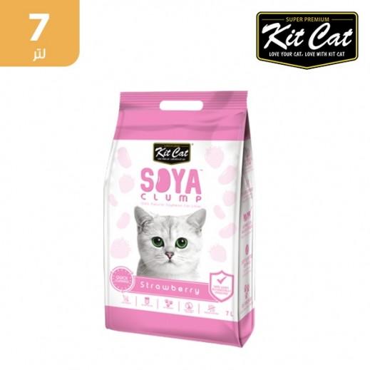 كيت كات تراب فضلات القطط من فول الصويا ورائحة الفراولة 7 لتر