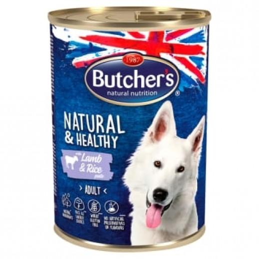 بوتشرز طعام كلاب من الأرز و لحم الحملان طبيعية و صحية 390 جم