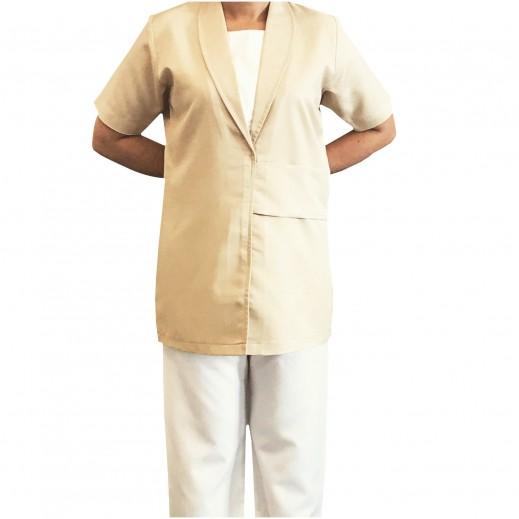 إم جي - ملابس الخادمة 100 بيج داكن (S - XL)
