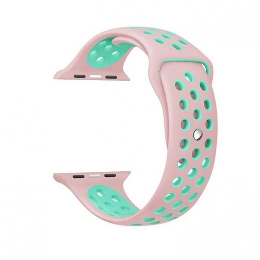 سوار ساعة أبل الرياضية 42 مم – وردي و أخضر