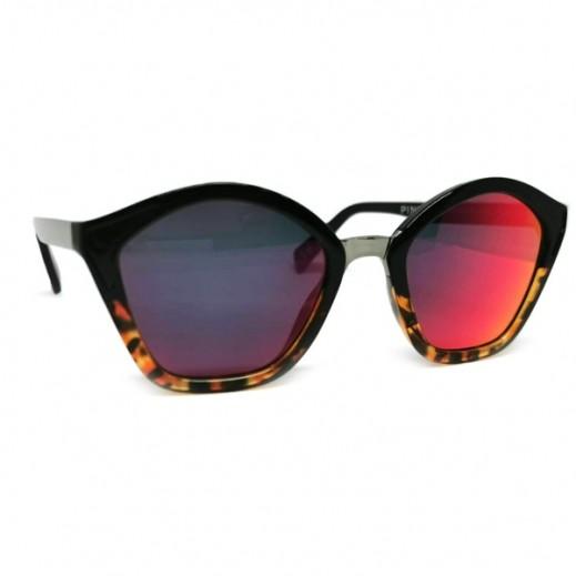 بينكو - نظارة شمسية (كات آي) للسيدات وردي 52 مم