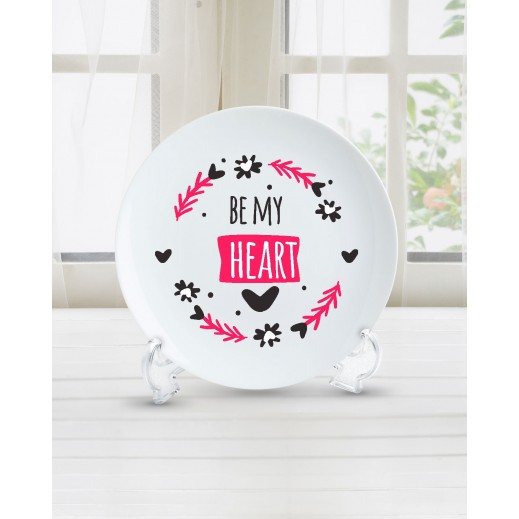 جملة على طبق تصميم Be My Heart - PL004 - يتم التوصيل بواسطة Berwaz.com