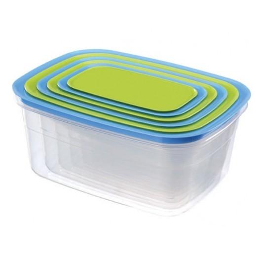 بلاتنيوم - طقم أوعية بلاستيك (ألوان متعددة) - 6 حبة