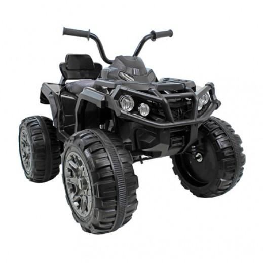دراجة رباعية باجي للأطفال قابلة للشحن ببطارية 12 فولت - أسود (موديل BDM0906) - يتم التوصيل بواسطة كليك تويز خلال 2 أيام عمل