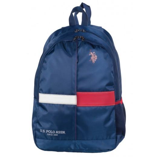 يو إس بولو - حقيبة ظهر 9107 - أزرق - 46.9 سم