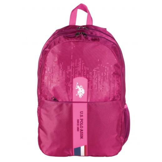 يو إس بولو - حقيبة ظهر 9112 - وردي -  46.9 سم