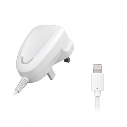 Remax Power Adapter With 1m Lightning Cable White