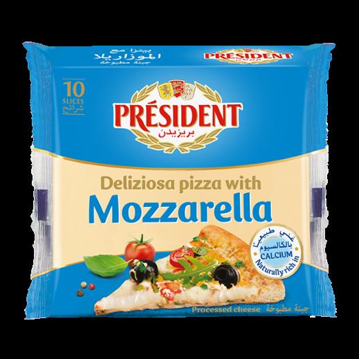 بريزيدن - شرائح جبنة البيتزا 200 جم (10 شرائح)