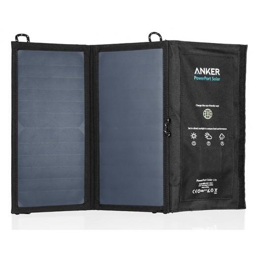 انكر – شاحن PowerPort يعمل بالطاقة الشمسية 60 واط – اسود