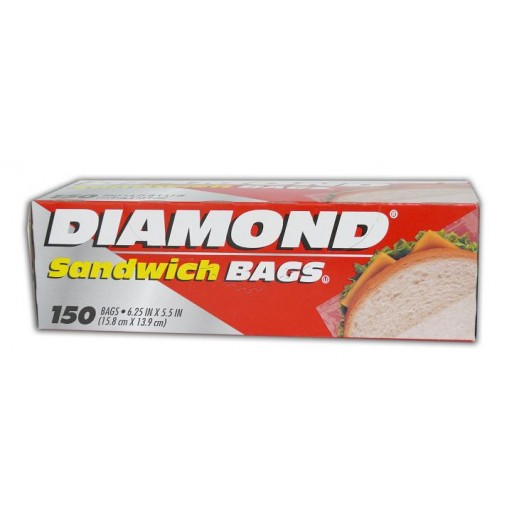 دايموند - أكياس للساندويتش 15.8 × 13.9 سم - عبوة 150 كيس