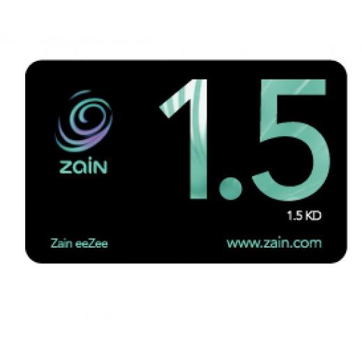 زين - كارت إعادة الشحن 1.5 دينار