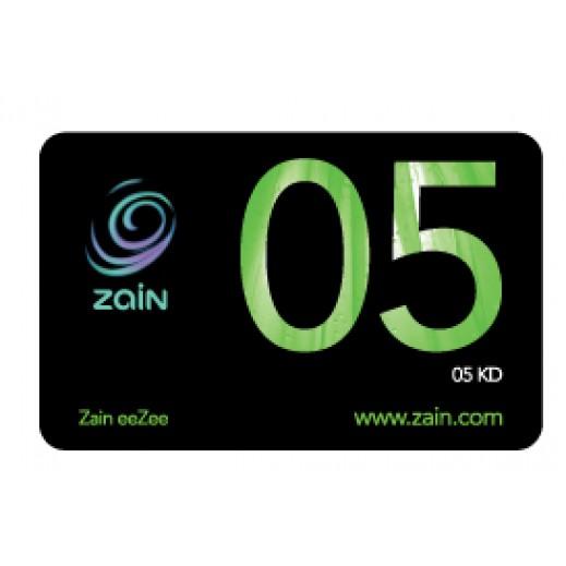زين - كارت إعادة الشحن 5 دينار