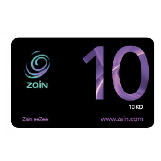 زين - كارت إعادة الشحن 10 دينار