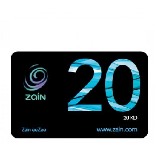 زين - كارت إعادة الشحن 20 دينار