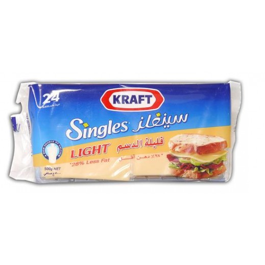 كرافت سنجلز – شرائح جبنة شيدر قليلة الدسم 400 جم