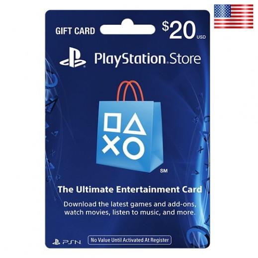 بطاقة شبكة سوني بلايستيشن بقيمة 20 دولار (الألعاب الأونلاين) للحسابات الأمريكية فقط –  إستلم فورا على بريدك الإلكتروني