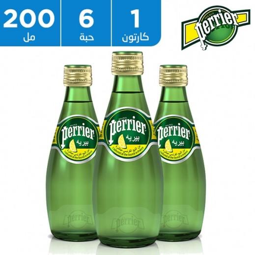بيريه - مياه معدنية طبيعية بطعم الليمون الأصفر 6 × 200 مل