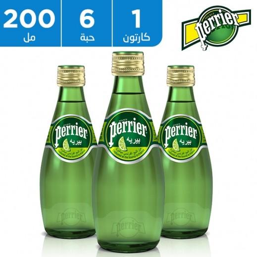 بيريه - مياه معدنية طبيعية بطعم الليمون الأخضر 6 × 200 مل