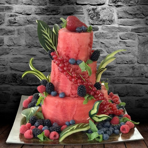 كيكة الرقي - يتم التوصيل بواسطة Fruit Art