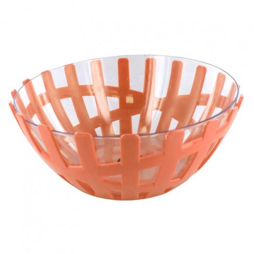 هابي فاملي – وعاء تقديم الفواكه حجم كبير - برتقالي