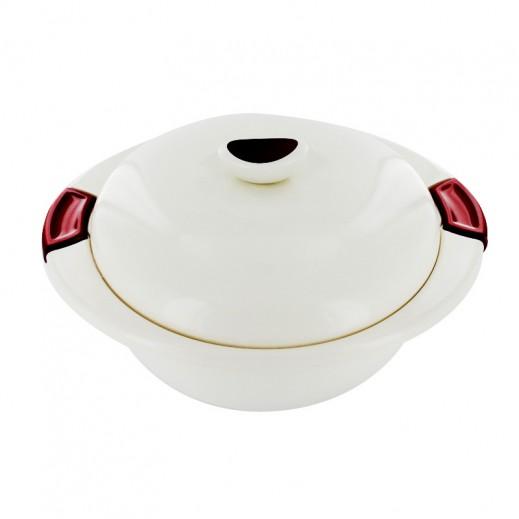 إندت إليجانزا – وعاء تقديم الطعام 6.5 لتر - دائري أحمر