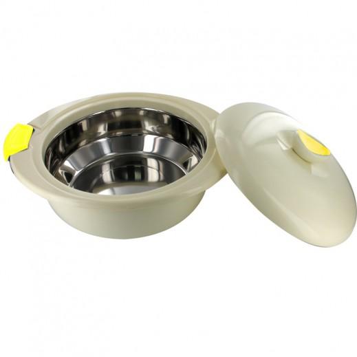 إندت إليجانزا – وعاء تقديم الطعام 6.5 لتر - دائري أصفر