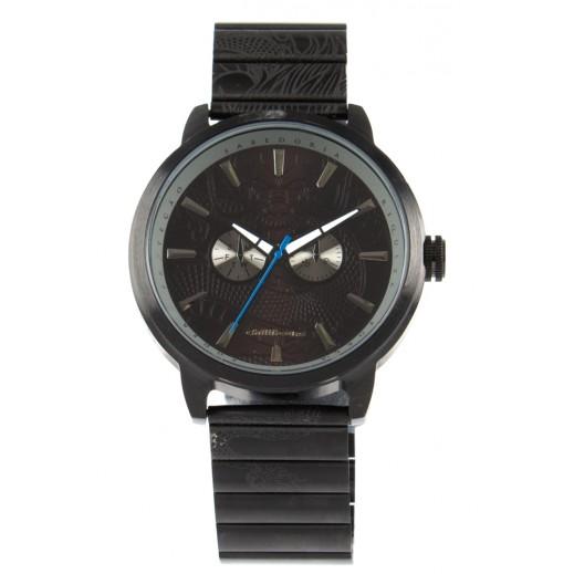تشيلي بينز - ساعة يد دائرية  للرجال - أسود  - يتم التوصيل بواسطة F3 Sunglasses