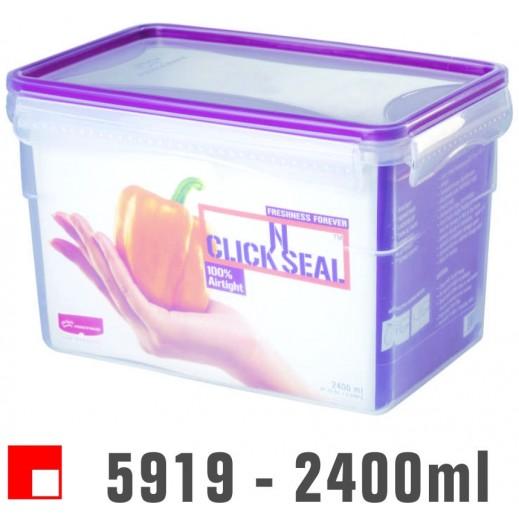 برينس وير - وعاء Click N بغطاء لحفظ وتخزين الأطعمة 2.400 لتر