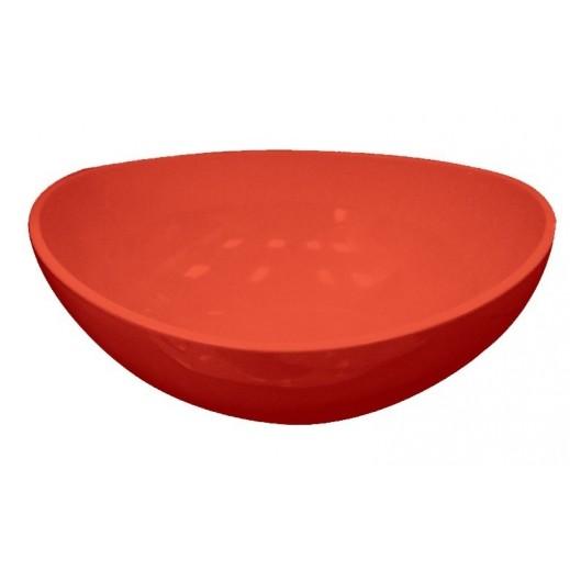 كنج صن – وعاء للسلطة مع طقم ملاعق – أحمر