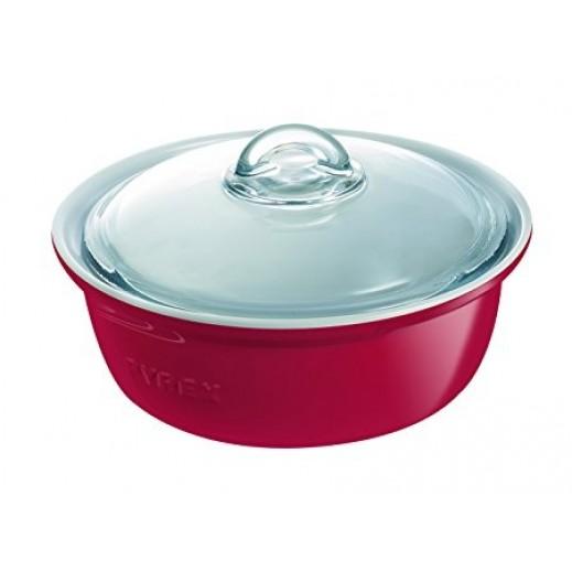 بايركس – وعاء طهي سيراميك أحمر – 2.5 لتر