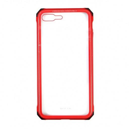 دبليو كي ديزاين – غطاء زجاجي لآيفون 7/8 Plus – أحمر