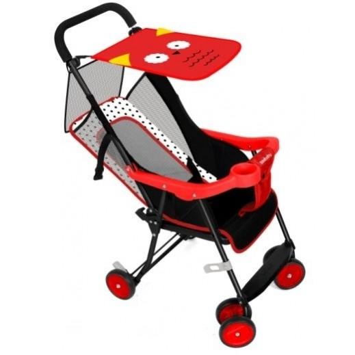 سي بيبي - عربة أطفال قابلة للطي - أحمر