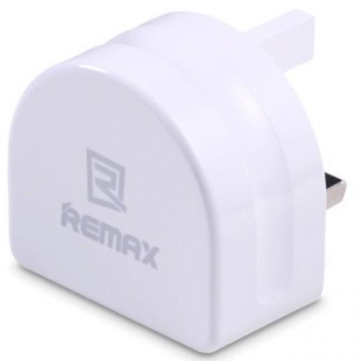 ريماكس شاحن منزلي 2.1A مع 2 منافذ USB لون ابيض RMT7188