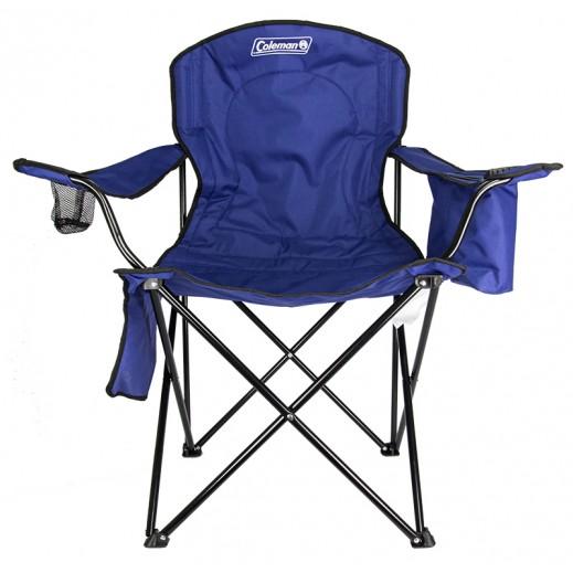 كولمان – كرسي بمسند ذراع وحافظة برودة – أزرق