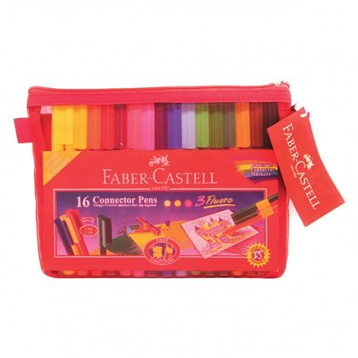 فابر كاستل – طقم الوان تركيب رفيع – 16 قلم